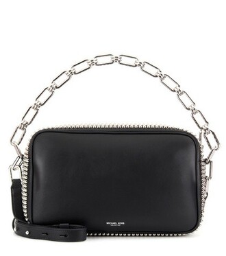 embellished bag shoulder bag leather black
