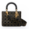 Supple lady dior bag in studded black calfskin - dior
