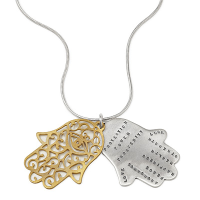 Protection hamsa necklace