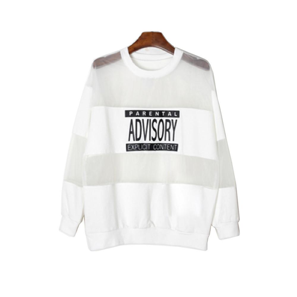 Parental advisory mesh sweater / back order – holypink