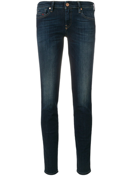 Diesel jeans skinny jeans super skinny jeans women spandex cotton blue