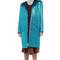 Teal glitter coat with shearling trim by rodarte - moda operandi