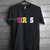 Coulorfull Girls t shirt gift tees unisex adult cool tee shirts
