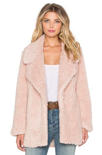 TULAROSA coat violet pink