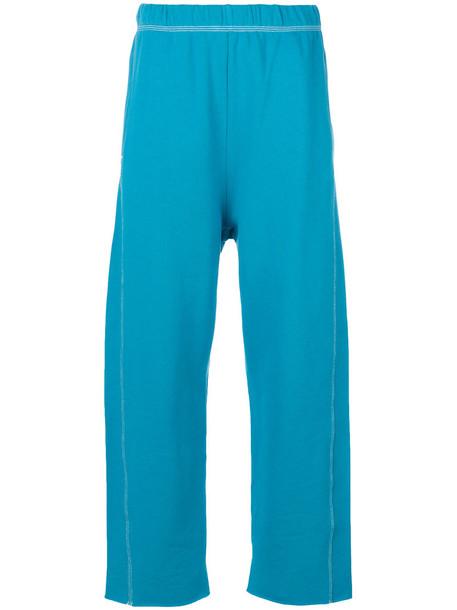 Mm6 Maison Margiela sweatpants women classic cotton blue pants