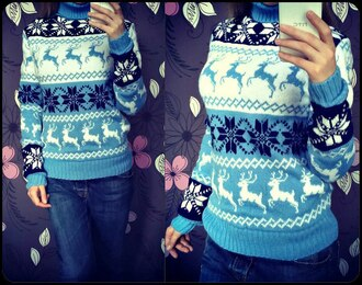 sweater reindeer sweater warm sweater snowflake snowflake sweater cute pretty retro vintage norwegian style sweater norway girly cozy sweater fall outfits norway pattern deer