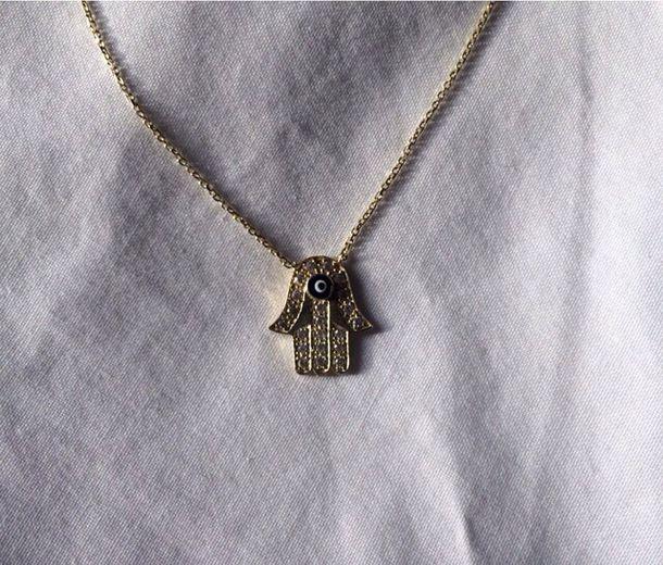 Hipster Necklace jewels hamsa necklace hamsa