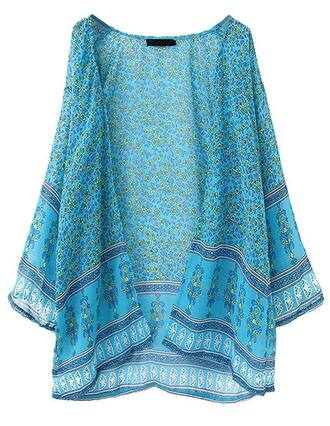 cardigan floral open front brenda-shop kimono summer outfits see through throw cape