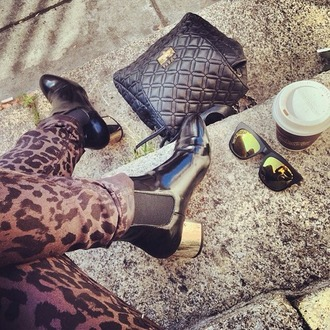shoes boots gold heel