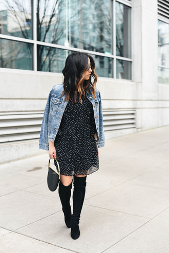 crystalin marie blogger dress jacket shoes bag jewels sunglasses