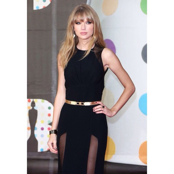 dress taylor swift long prom dresses black cutout dress