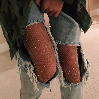 leggings sparky sequins ripped jeans tights mesh gems sparkle jeans denim blue ripped socks denim jacket stockings diamonds glamour