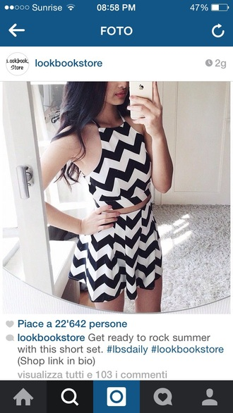 skirt top romper lookbook store dress black and white dress black white crop tops skorts