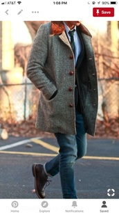 coat,grey,fur,pea coat