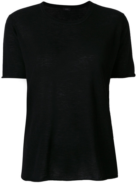 Joseph t-shirt shirt t-shirt basic women black top