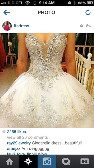 dress wedding dress cinderella dress