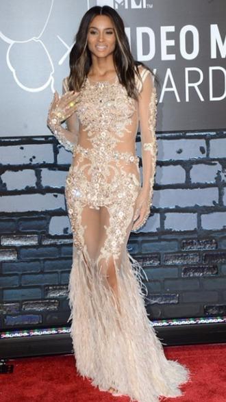 dress nude dress nude prom dress prom dress sparkly dress celebrity evening dresses ciara