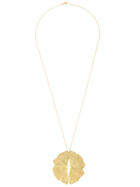 LARA MELCHIOR women necklace pendant gold yellow orange jewels