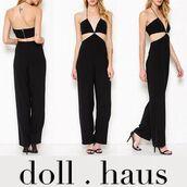 jumpsuit,cutout jumpsuit,black jumpsuit,black,cut-out,trendy,style,stylish,minimalist,shopdollhaus,black cutout jumpsuit,sexy,classy