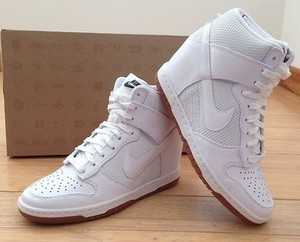 Nike Dunk Sky Hi Mesh Hidden Wedge Sneaker White Size US 6 5 New in Box ...