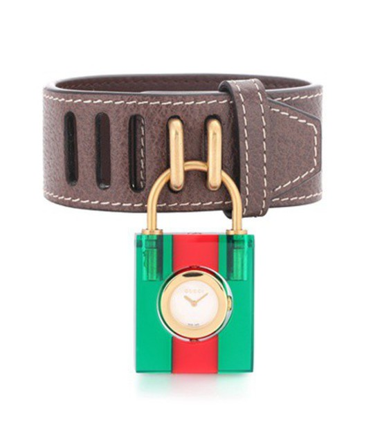 gucci leather watch watch leather jewels