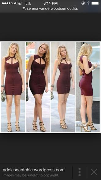 burgundy serena van der woodsen dress gossip girl dress