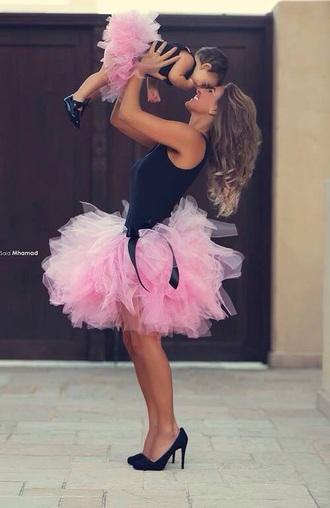 tule tutu style skirt pink pink skirt