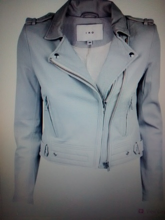 jacket leather jacket iro soft grey grey jacket