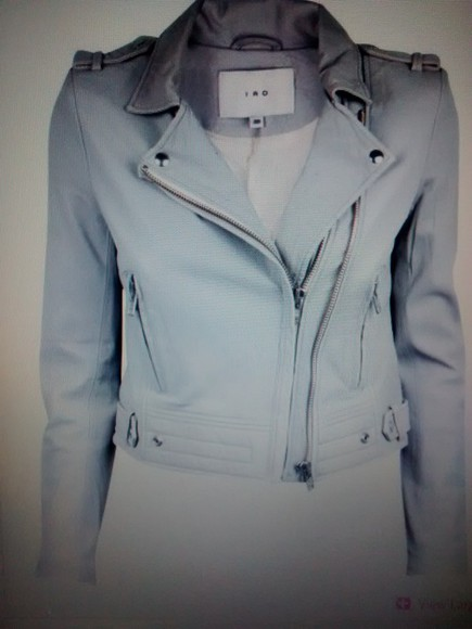 iro jacket soft grey grey jacket leather jacket