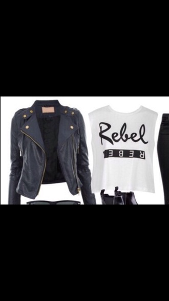 jacket black white black jacket white t-shirt grease outsiders shirt style leather jacket leather