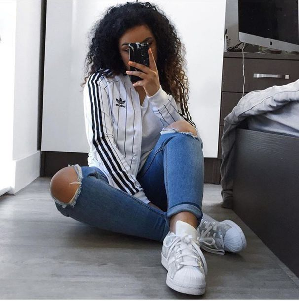 adidas girls. Jacket White Black Adidas Silver Girl Summer Super Stars And Girls G
