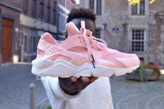shoes pastel pink pink sneakers huarache nike