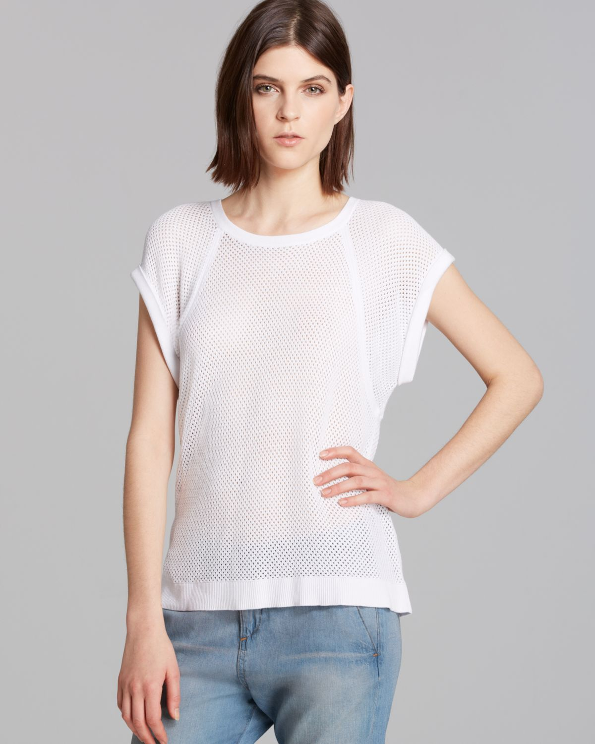 rag & bone/JEAN Tee - Exclusive Mesh Muscle | Bloomingdale's