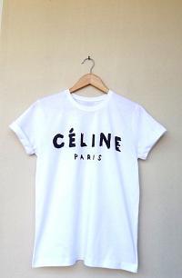 Celine paris printed tee