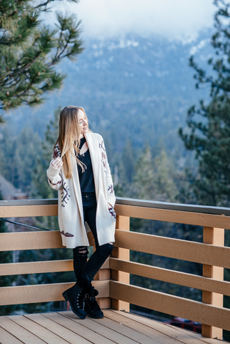 eat sleep wear blogger sweater jeans shoes top boots winter outfits cardigan