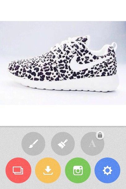 shoes snow leopards nike snowleopard nike roshe runs