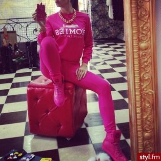 jacket hoodie sweatshirt pink homies