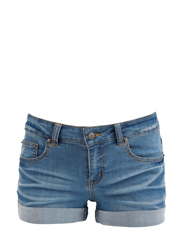 regular low waist denim shorts
