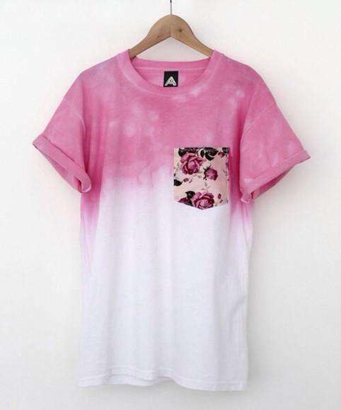 pocket gradient floral pocket tumblr outfit