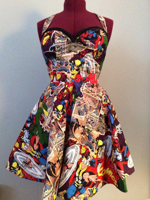 Robe Comic Marvel Par Fashionablygeeky247 Sur Etsy