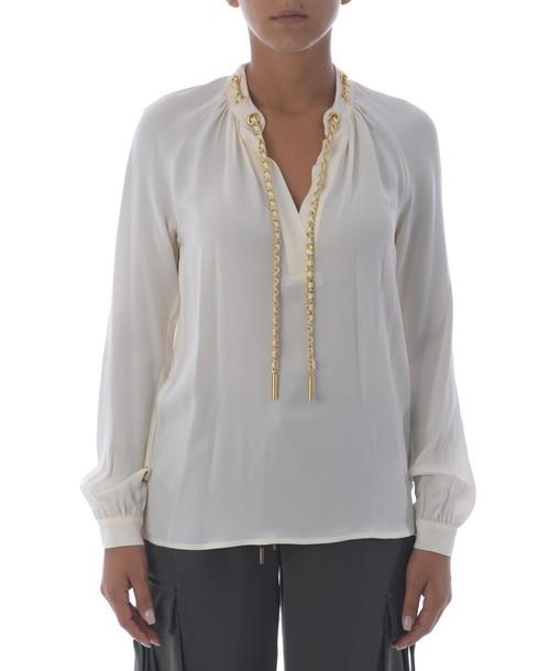 Michael Kors blouse drawstring top