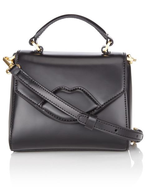Lulu Guinness mini bag leather black black leather