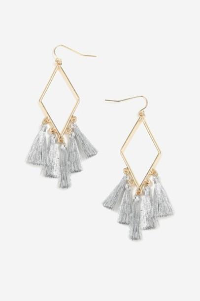 Topshop tassel earrings silver jewels