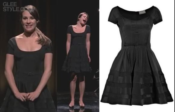 lea michele shoes glee girly classy casual little black dress classy dress