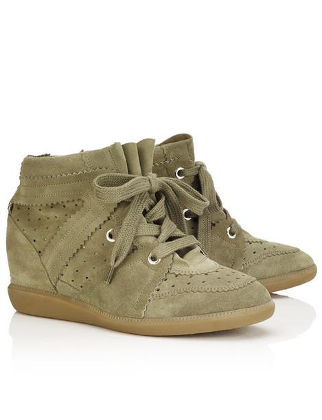 Isabel Marant etoile sneakers suede taupe wedge sneakers beige