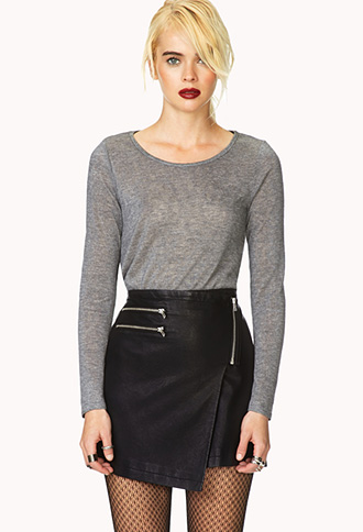 Cutting Edge Asymmetrical Skirt | FOREVER21 - 2000109962