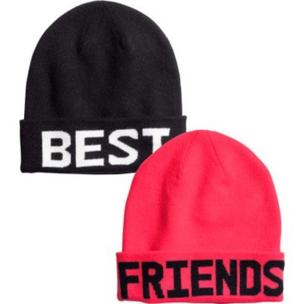 hat beanie cute pink black bff