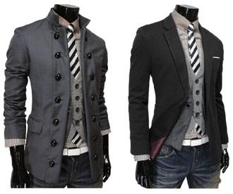 black jacket grey jacket menswear