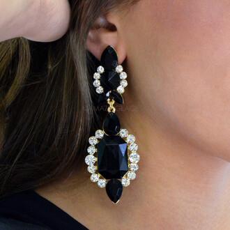 jewels little black dress glamorous sparkly dangle earrings black jewels glitzy dressy clubwear
