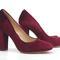 4 inch heels - red velvet block heels